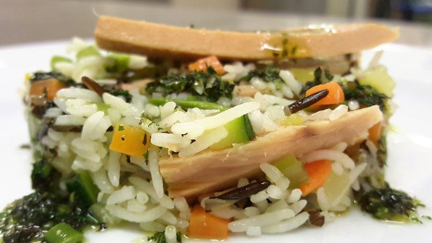 insalata tiepida dei due risi al tonno 3
