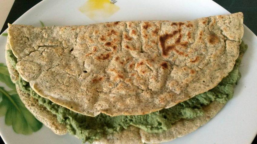 Ricetta Crepes Farina Di Quinoa.Crepes Di Hulk Con Farina Di Fave Ricette Dieta Gruppo Sanguigno