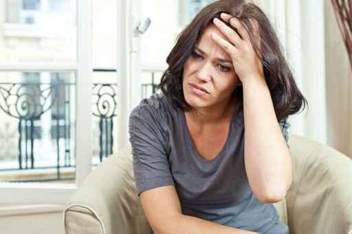 Nice woman and headache