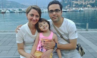 Michela con la sua famiglia