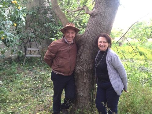 Antonietta con il marito che l'ha sostenuta