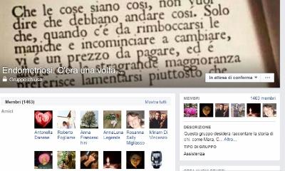 """Il gruppo di Facebook """"Endometriosi c'era una volta"""""""